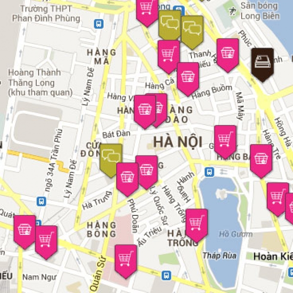 Vegetable market locations in Hanoi